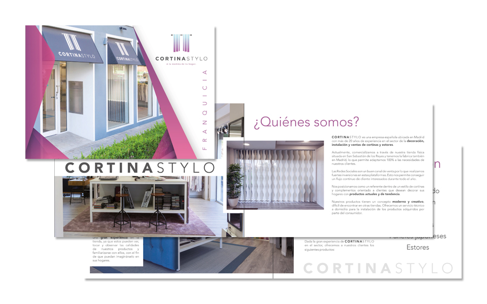Dossier 12 pag. Cortinas STYLO