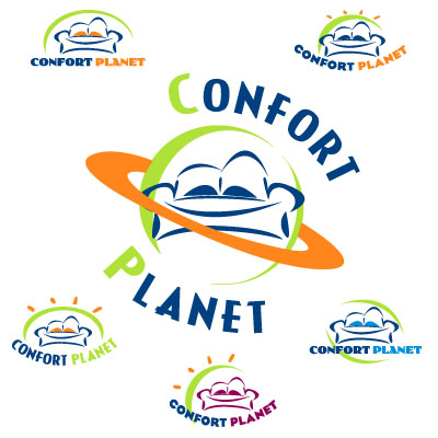 Logotipo de Confort Planet Sofás