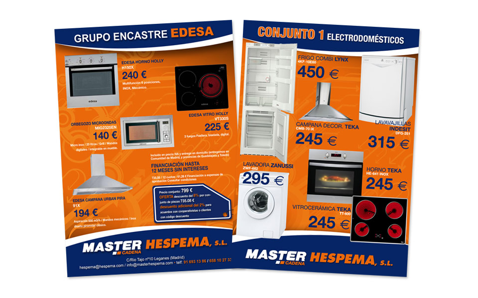 Folleto A4 Master Hespema