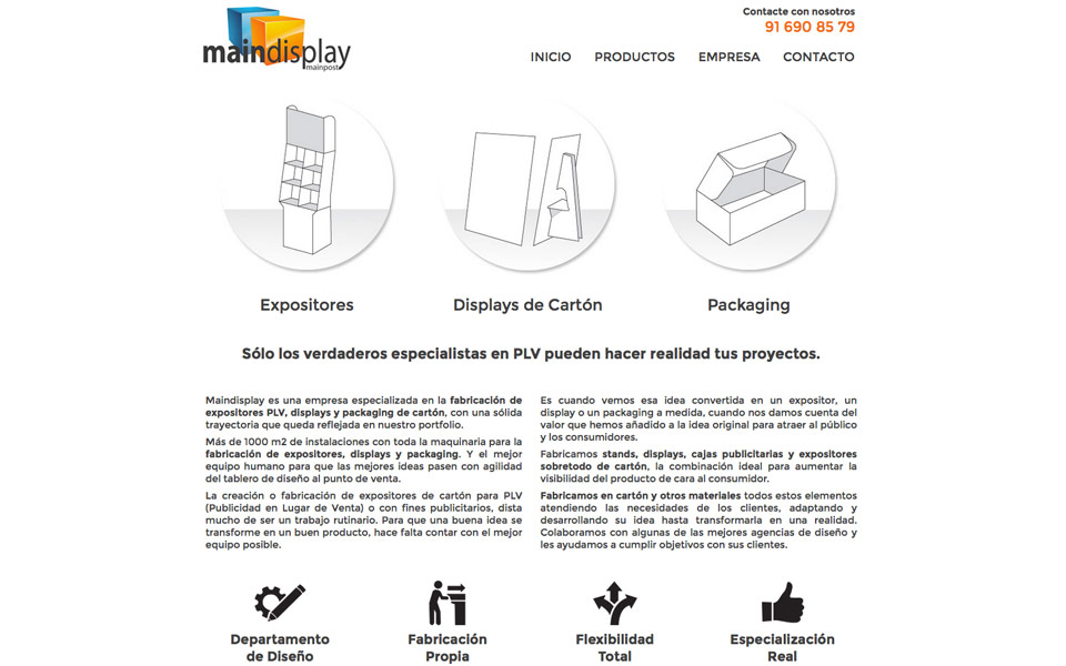 Diseño y Programación Web Main Display