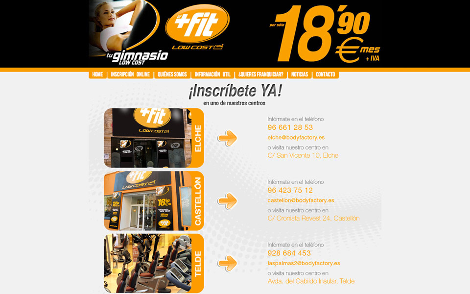Web Gimnasio Low Cost