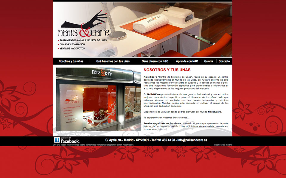 Diseño página web Nails and Care