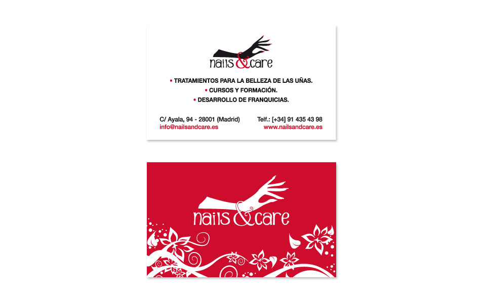 Tarjetas de visita Nails and Care